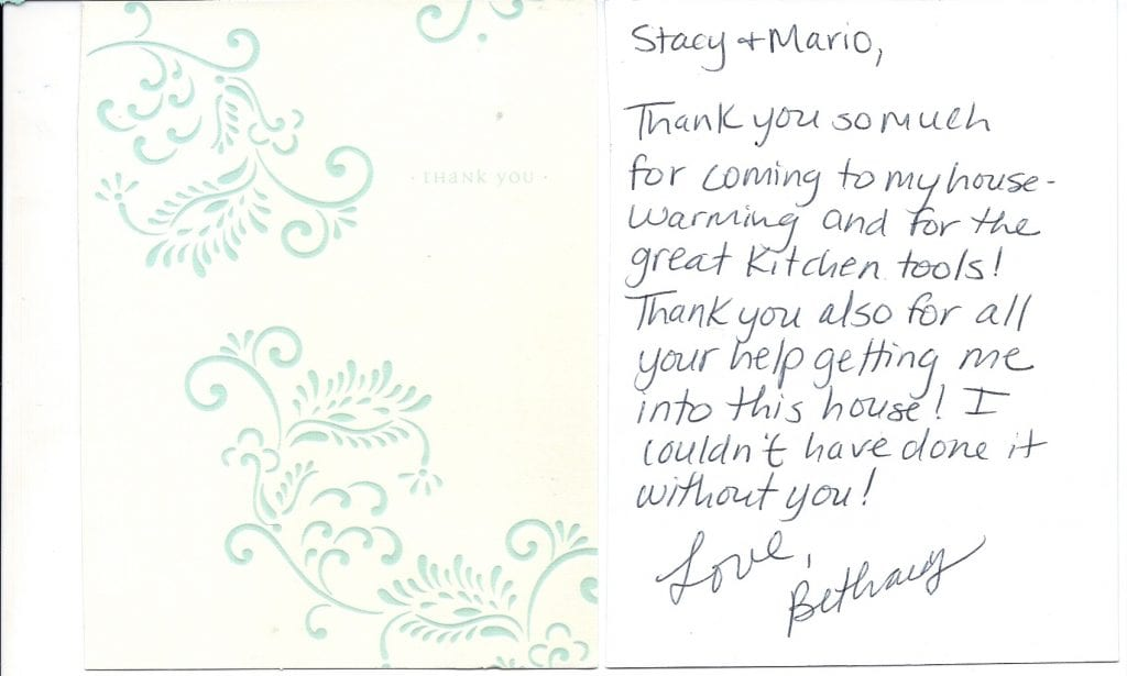 Bethany Gobeille Thank You Card