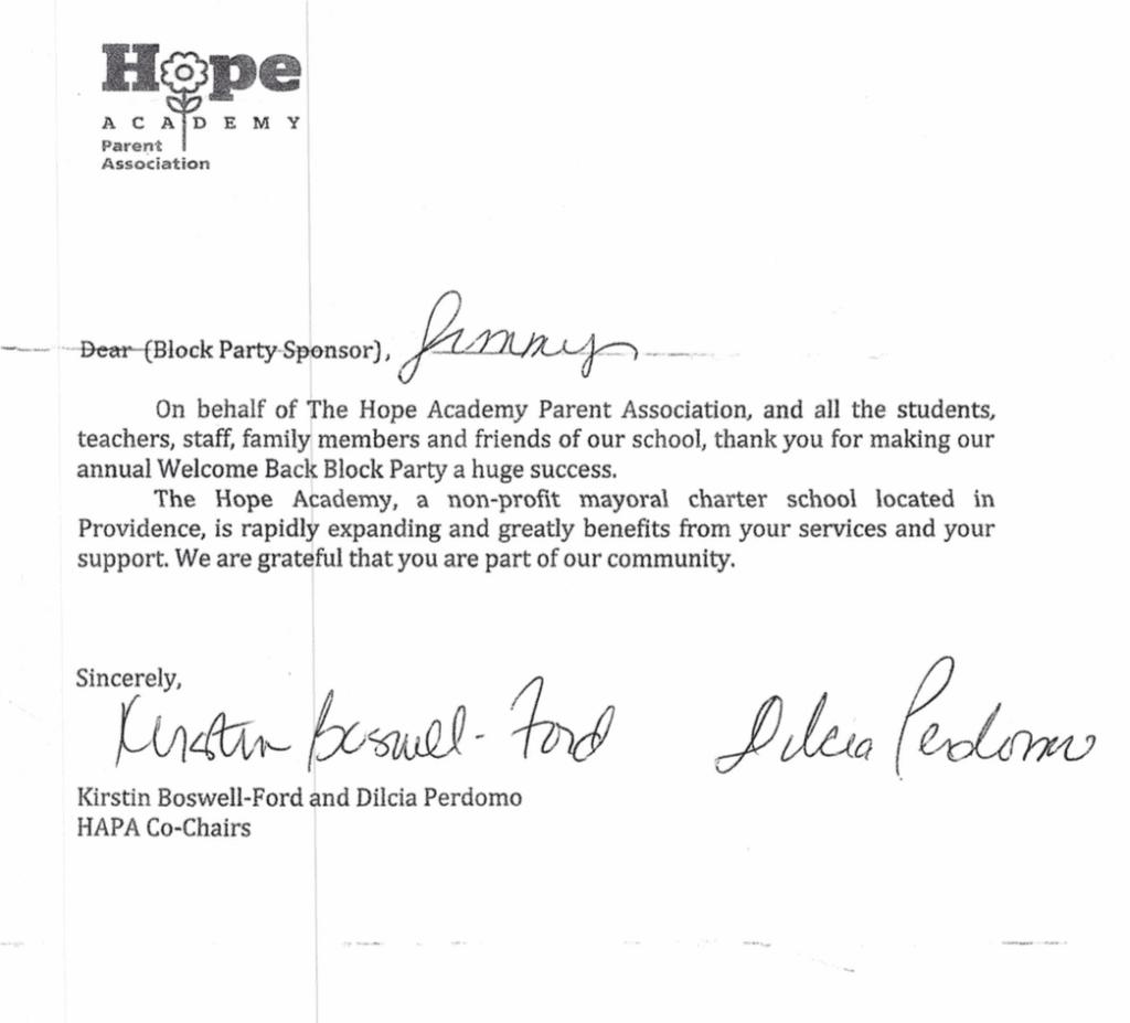 Hope School Testimonial