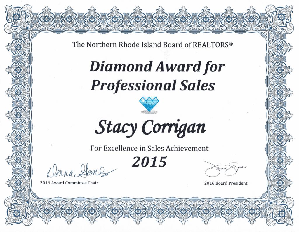 2015 Diamond Sales Award