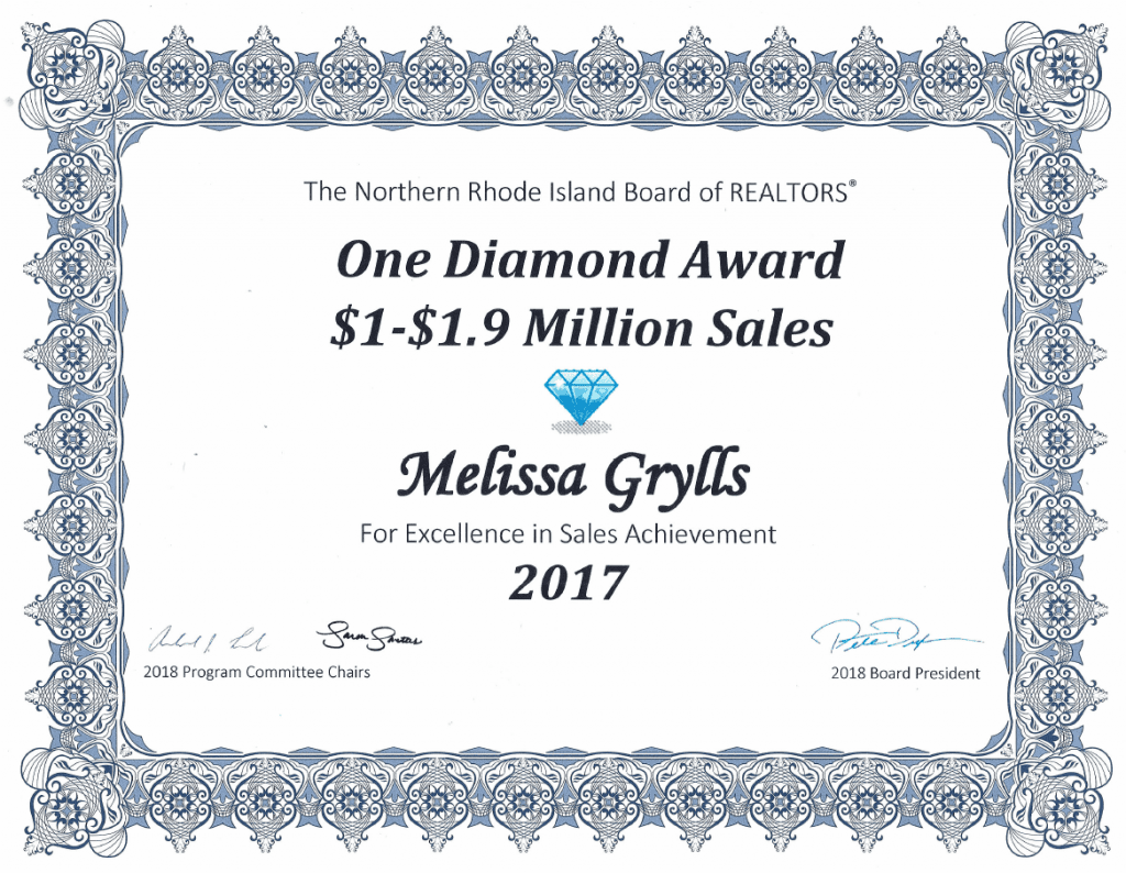 Melissa Diamond Sales Award 2017